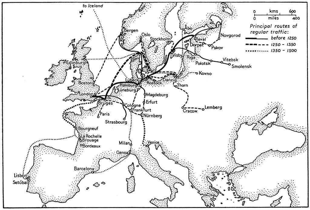 Hanseatic Trade Routes