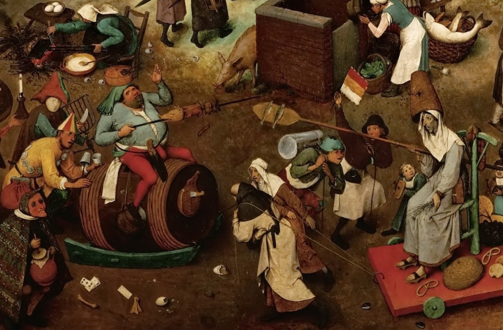 Detail from Breughel's Fight Between Carnival and Lent