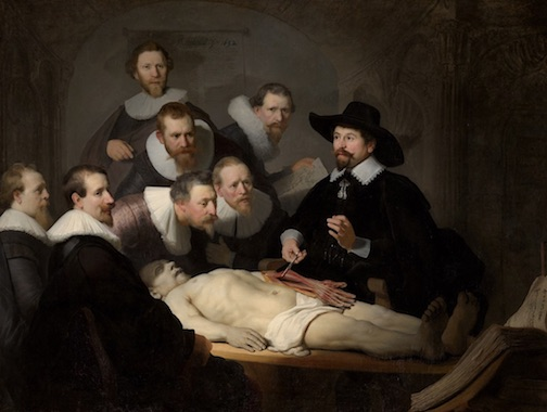 The Anatomy Lesson of Dr Nicolaes Tulp by Rembrandt (1632)