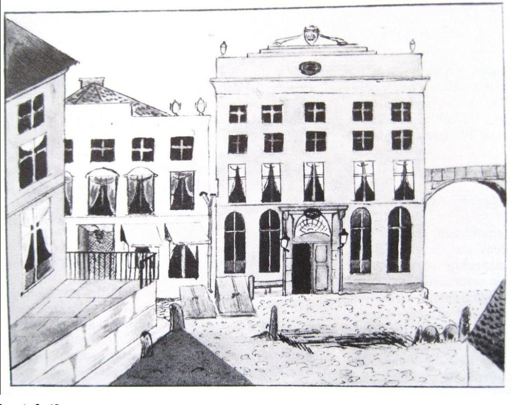Drawing of Scania Merchants' Hall