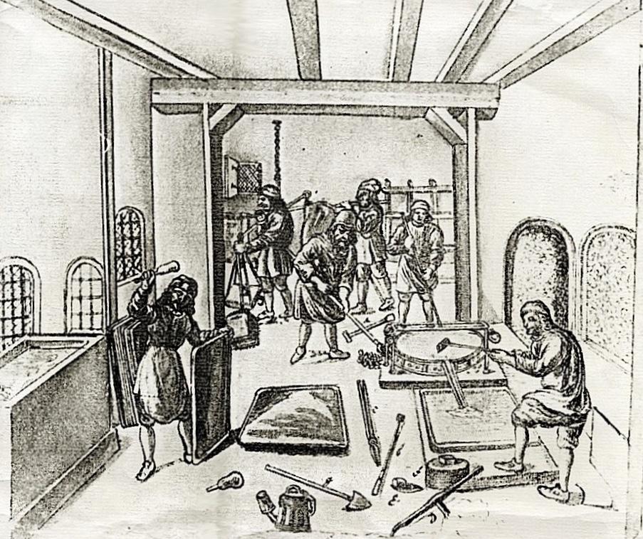 Forging Salt Pans, Luneberg, 1700
